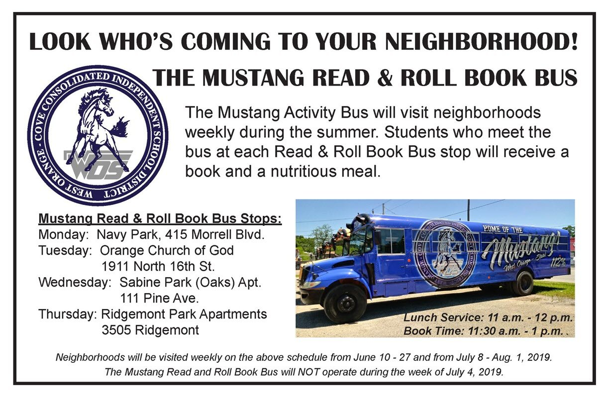 Mustang Read and Roll Book Bus