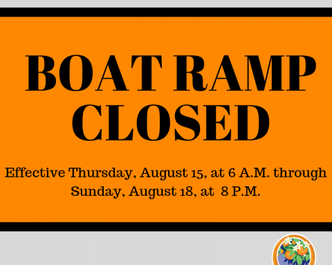 City Boat Ramp Closing for Rumble on River Event