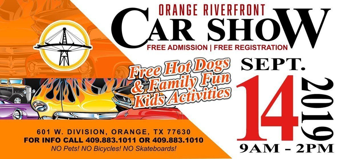 Orange Riverfront Car and Bike Show Scheduled for September 14