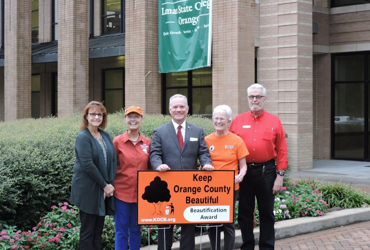 Lamar State College Orange Recognized by Keep Orange County Beautiful