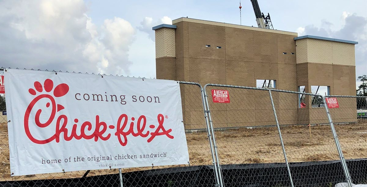 Chik-fil-A Restaurant Making Progress
