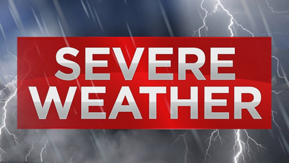 Severe Weather Predicted For Friday Afternoon Until Early Hours Saturday