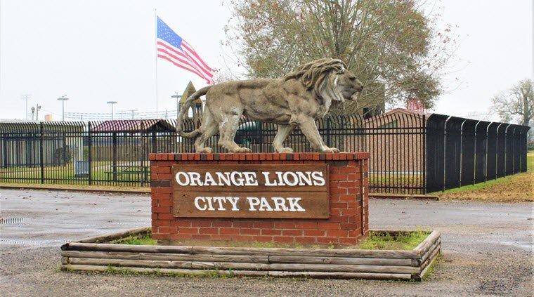 Orange Lions City Park Closed Indefinitely