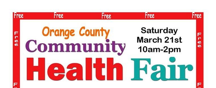 Orange Community Health Fair Scheduled for March 21