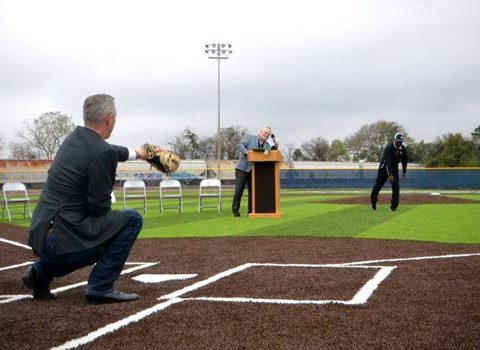 WOCCISD Holds Ribbon Cutting for New Baseball and Softball Turf