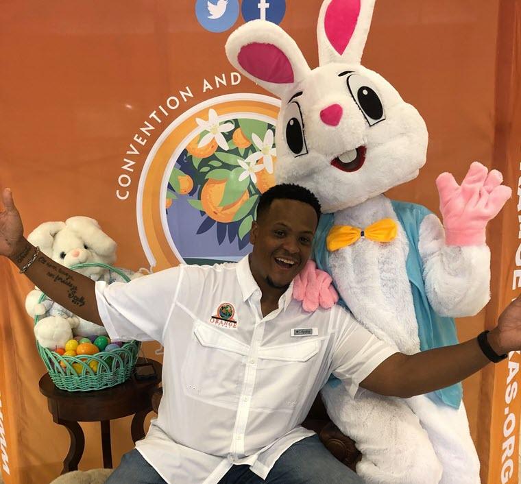 Easter Bunny Virtually Visiting Orange on April 10