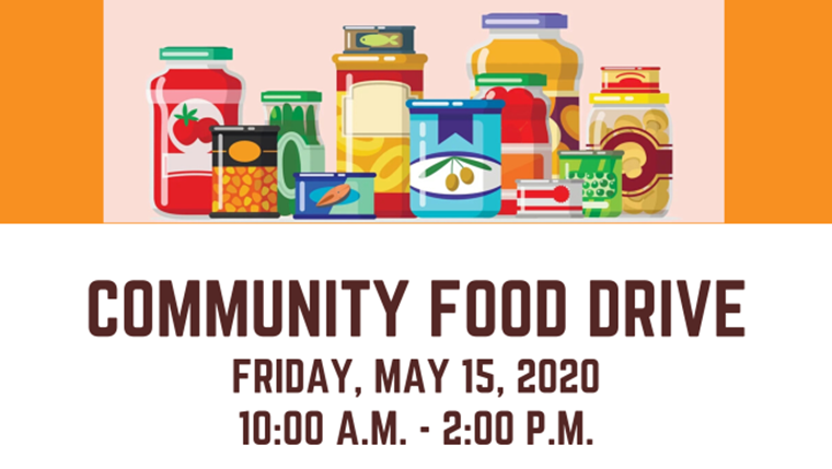 Community Food Drive Planned for May 15