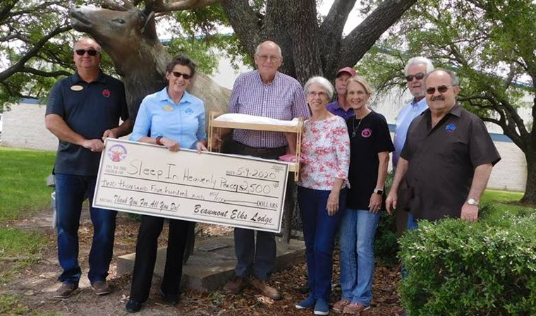 Elks Lodge Donates $2500 to Sleep in Heavenly Peace