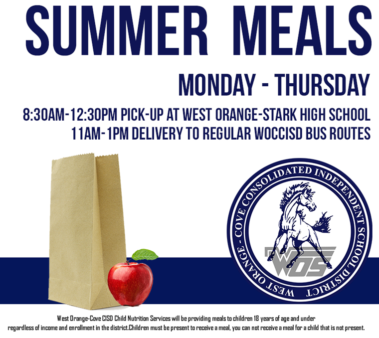 WOCCISD Provides Summer Meals