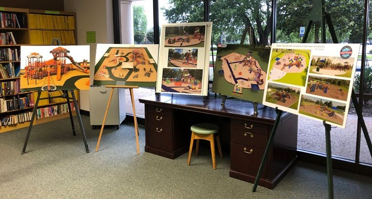 Proposed Designs for Lions Den Playground Available at Orange Public Library