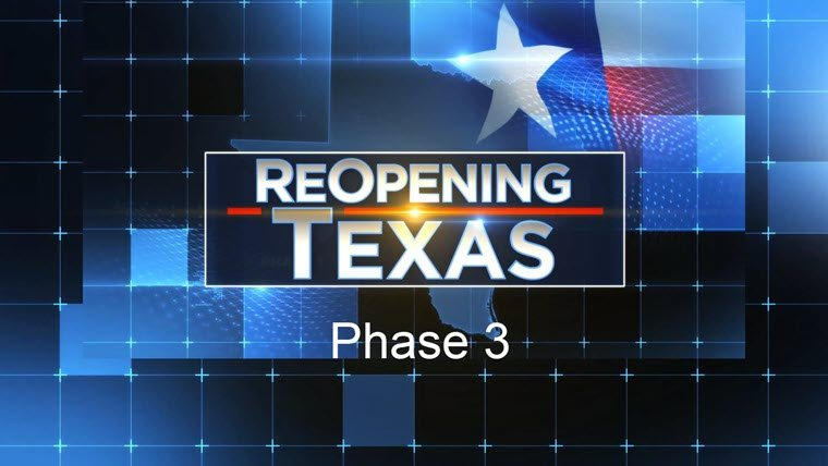 Re-Opening Texas Phase 3