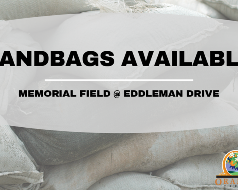 Sandbags Available from City of Orange