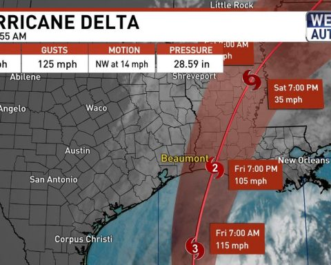 Delta Will Probably Be a Category 2 at Landfall on Friday