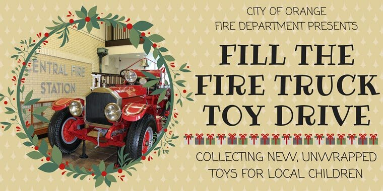Orange Fire Dept. Hosting Fill the Fire Truck Toy Drive