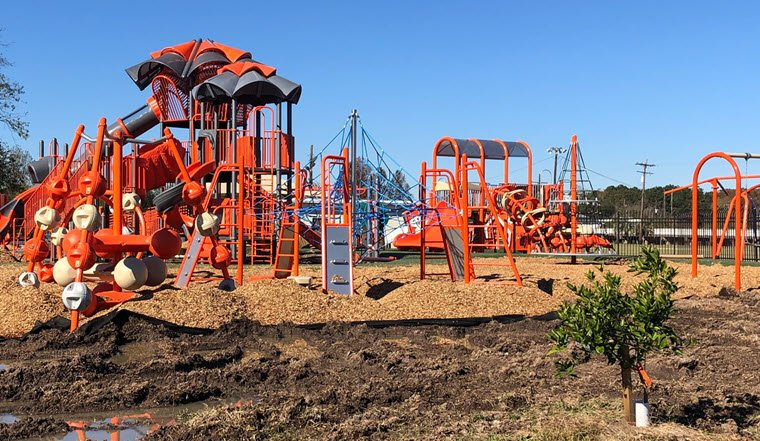 Lions Den Park Playground 75% Complete