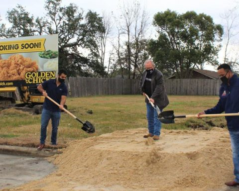 Golden Chick Restaurant Groundbreaking Held