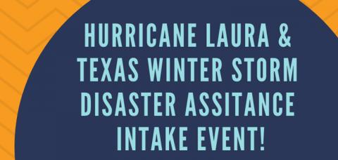 Laura/Uri Disaster Intake Event Scheduled