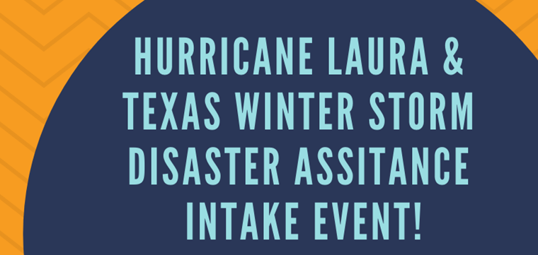 Laura/Uri Disaster Intake Event Scheduled