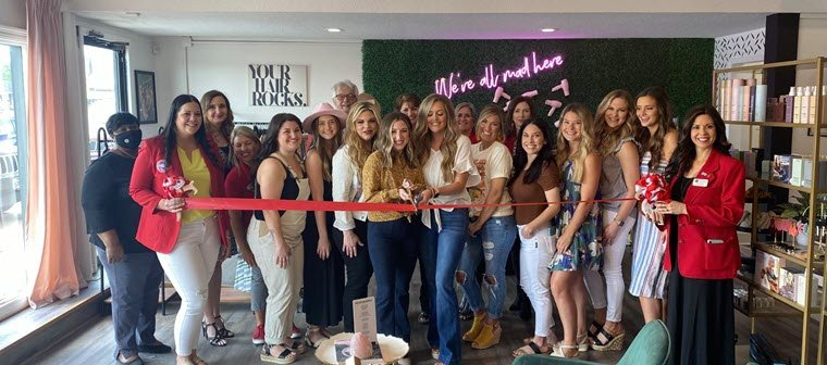 Roots Hair + Boutique Holds Ribbon Cutting