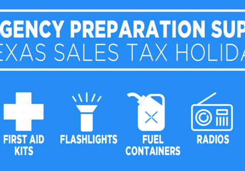 Emergency Prep Supplies Tax Holiday April 24-26